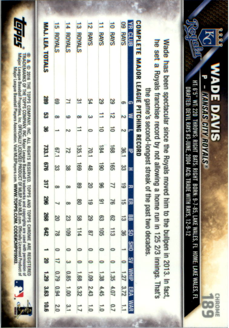 2016-Tarjeta-de-beisbol-Topps-Chrome-Rosa-refractores-Pick miniatura 147