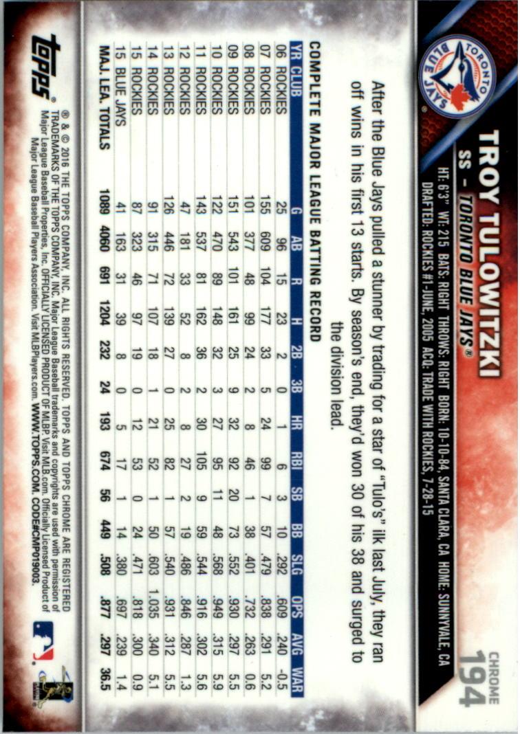 2016-Tarjeta-de-beisbol-Topps-Chrome-Rosa-refractores-Pick miniatura 151