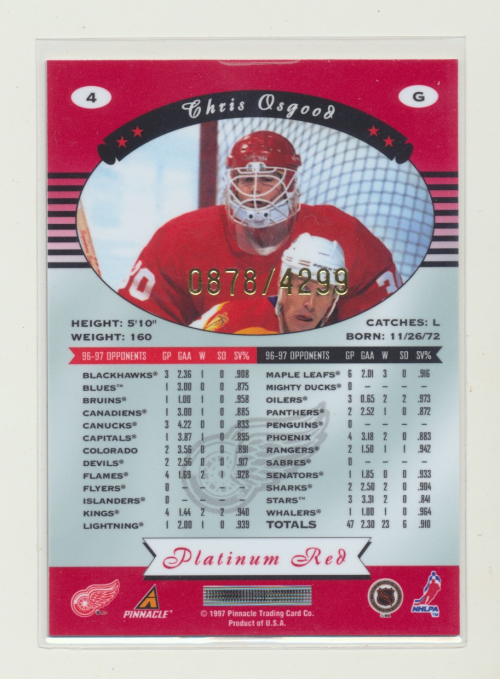 miniature 9 - 1997-98 Pinnacle Totally Certified Platinum Red Pick Your Player Cheap Shipping