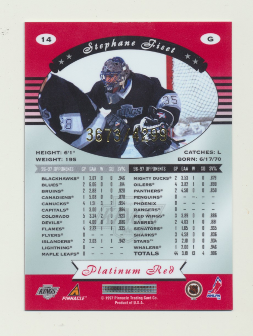 miniature 28 - 1997-98 Pinnacle Totally Certified Platinum Red Pick Your Player Cheap Shipping