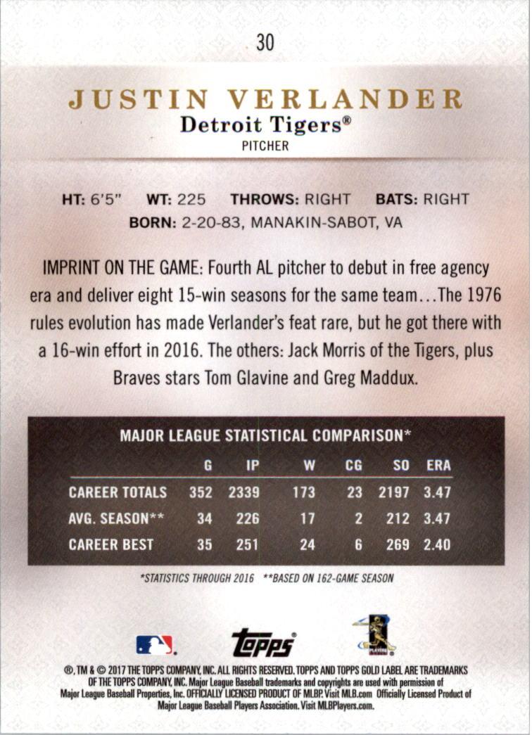 2017-Topps-Label-clase-2-Tarjeta-de-beisbol-Gold-Pick miniatura 29