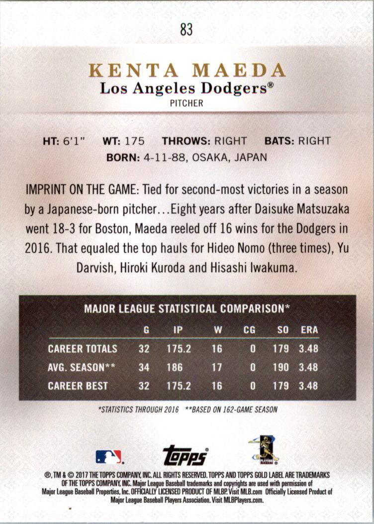 2017-Topps-Label-clase-2-Tarjeta-de-beisbol-Gold-Pick miniatura 83