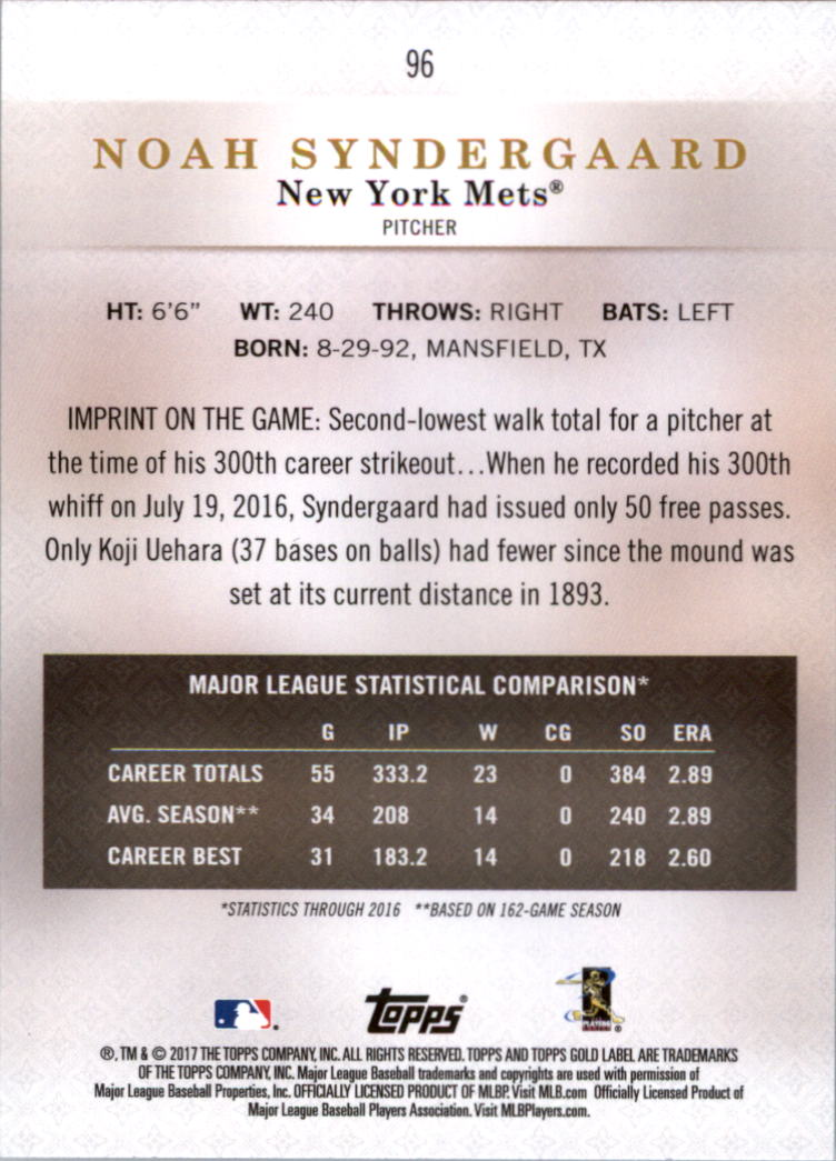 2017-Topps-Label-clase-2-Tarjeta-de-beisbol-Gold-Pick miniatura 99