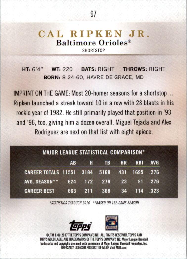 2017-Topps-Label-clase-2-Tarjeta-de-beisbol-Gold-Pick miniatura 101