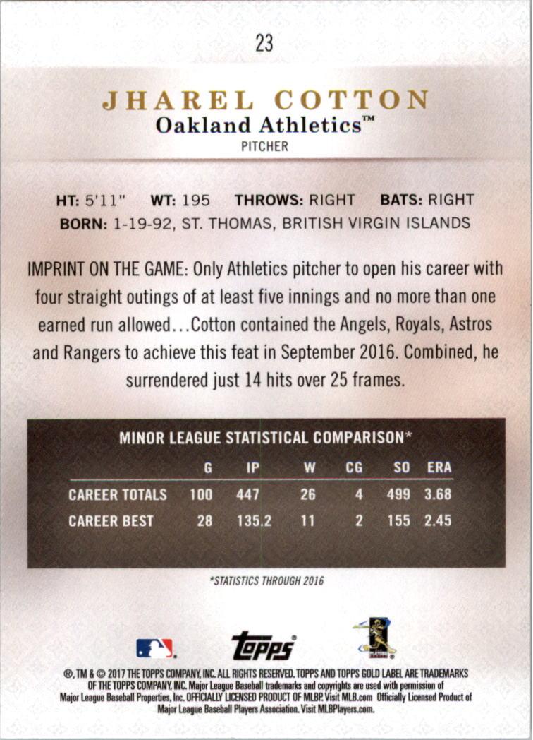 2017-Topps-Gold-Label-clase-3-Tarjeta-de-beisbol-Pick miniatura 9