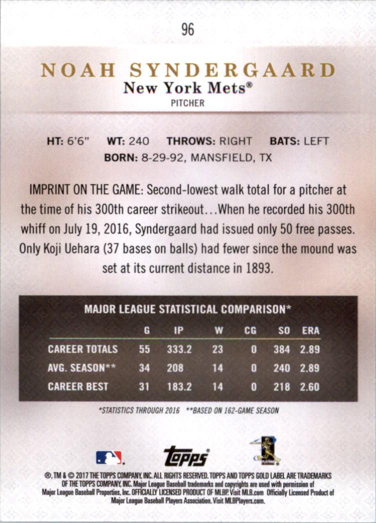 2017-Topps-Gold-Label-clase-3-Tarjeta-de-beisbol-Pick miniatura 55