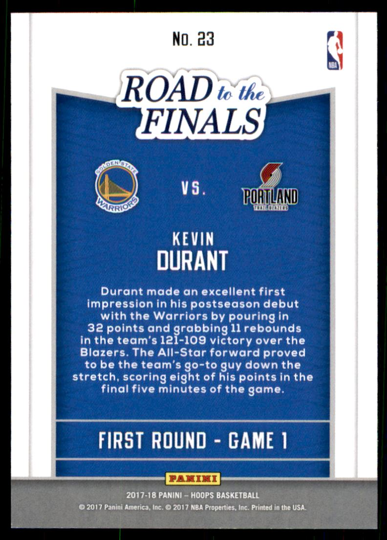 2017-18 Hoops Road to the Finals #23 Kevin Durant First Round /2017 | eBay