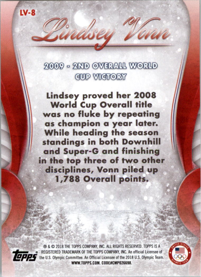 2018-Topps-U-S-Olympic-Team-Lindsey-Vonn-Career-Milestones-Sports-Card-Pick thumbnail 11