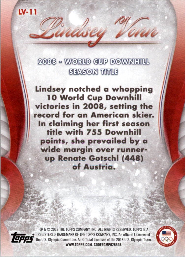 2018-Topps-U-S-Olympic-Team-Lindsey-Vonn-Career-Milestones-Sports-Card-Pick thumbnail 15