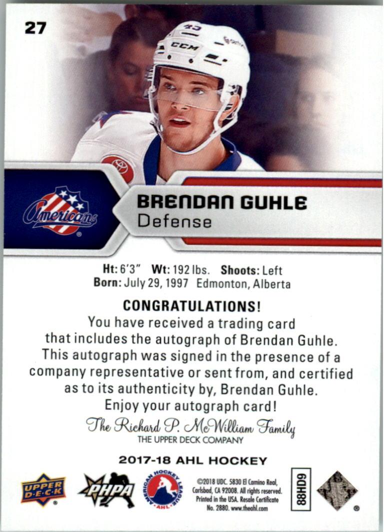 2017-18-Upper-Deck-AHL-Autographs-Hockey-Card-Pick thumbnail 5