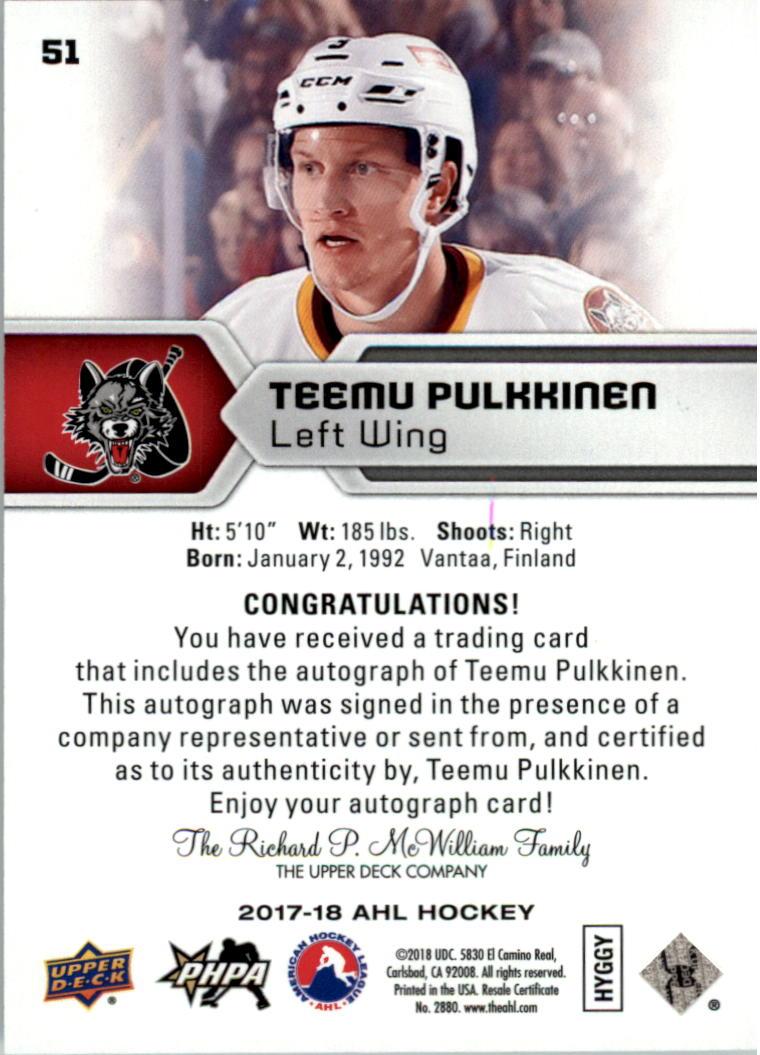 2017-18-Upper-Deck-AHL-Autographs-Hockey-Card-Pick thumbnail 11