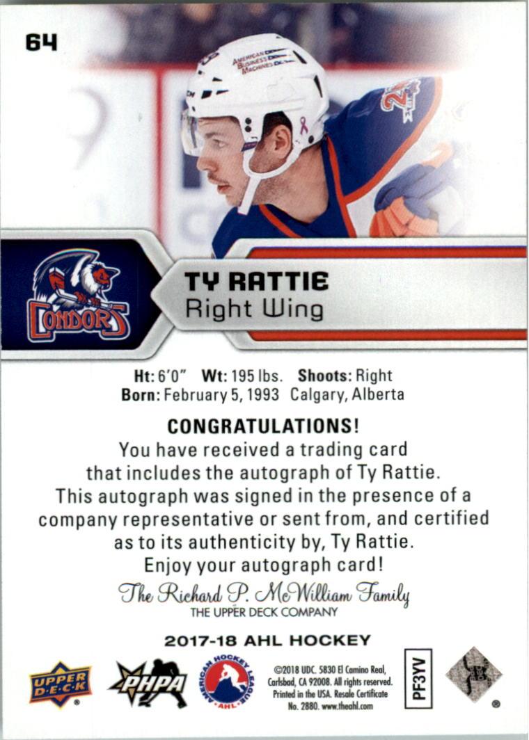 2017-18-Upper-Deck-AHL-Autographs-Hockey-Card-Pick thumbnail 13