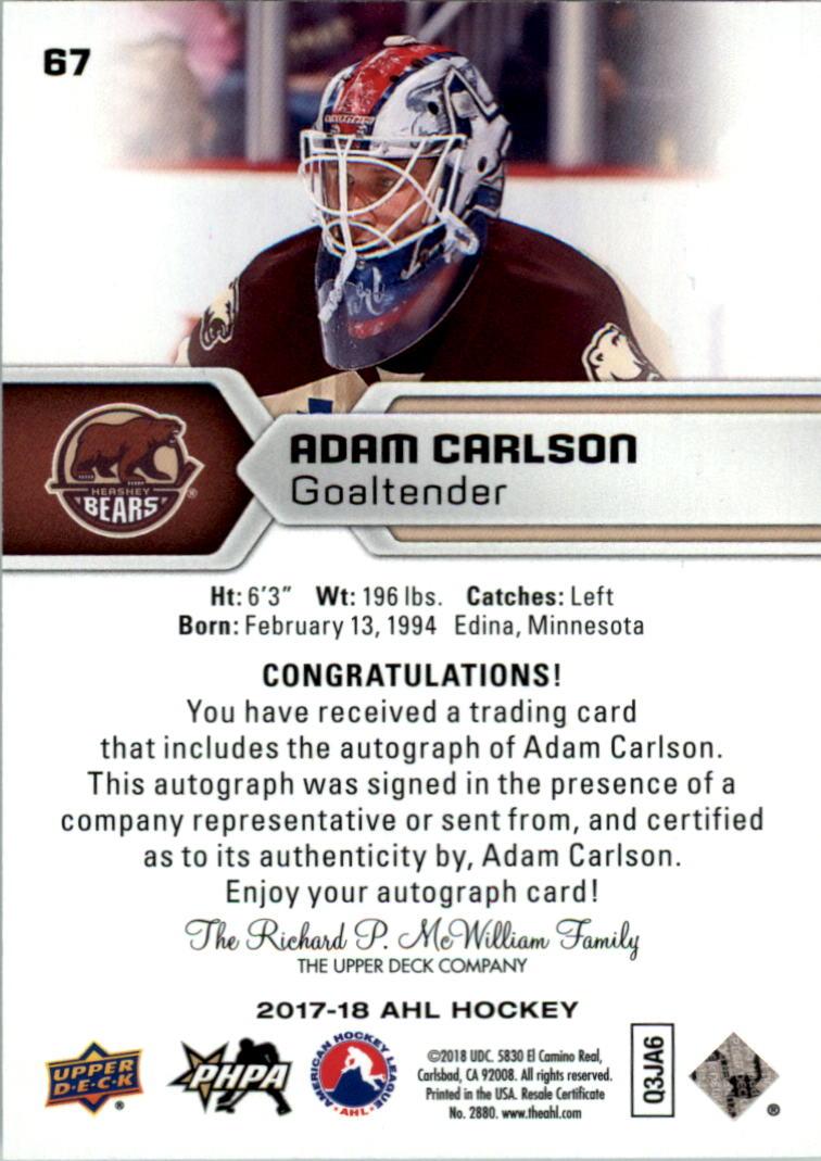 2017-18-Upper-Deck-AHL-Autographs-Hockey-Card-Pick thumbnail 17