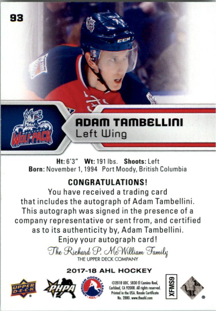2017-18-Upper-Deck-AHL-Autographs-Hockey-Card-Pick thumbnail 23