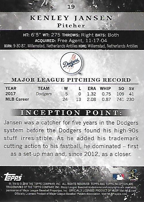 2018-Tarjeta-de-beisbol-Topps-Inception-Pick miniatura 15