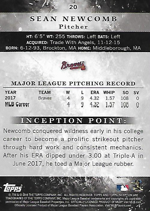 2018-Tarjeta-de-beisbol-Topps-Inception-Pick miniatura 17