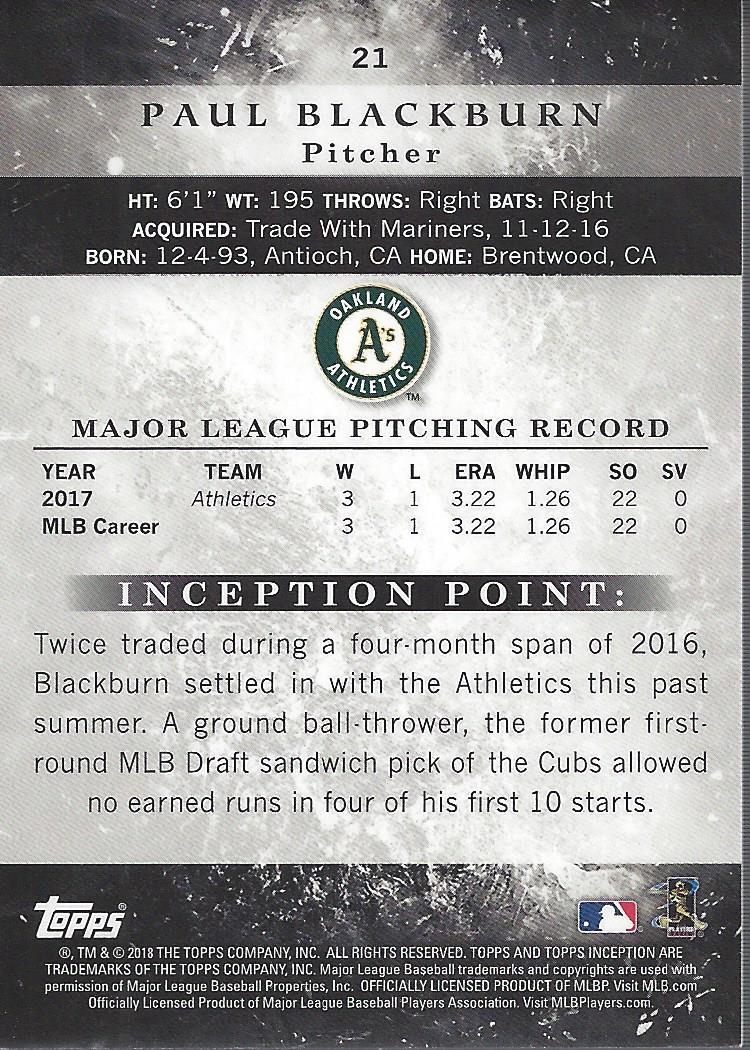 2018-Tarjeta-de-beisbol-Topps-Inception-Pick miniatura 19