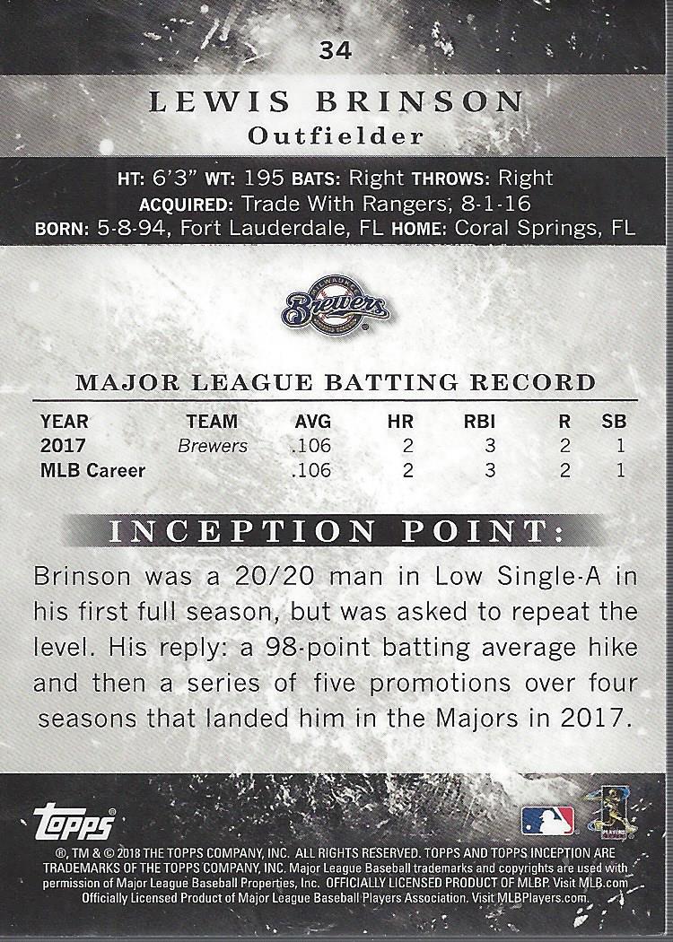 2018-Tarjeta-de-beisbol-Topps-Inception-Pick miniatura 31