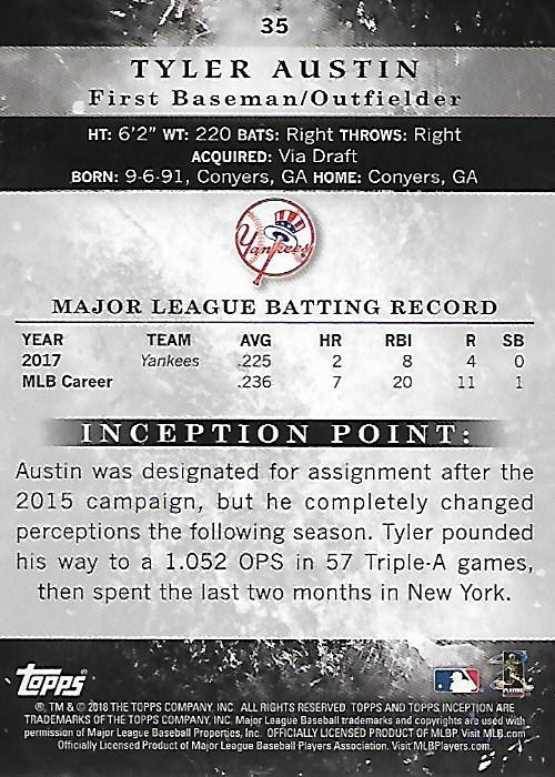 2018-Tarjeta-de-beisbol-Topps-Inception-Pick miniatura 33