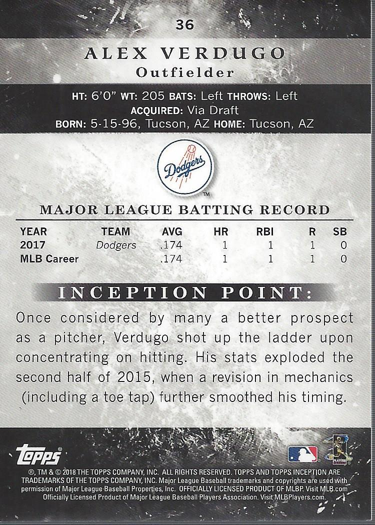 2018-Tarjeta-de-beisbol-Topps-Inception-Pick miniatura 35