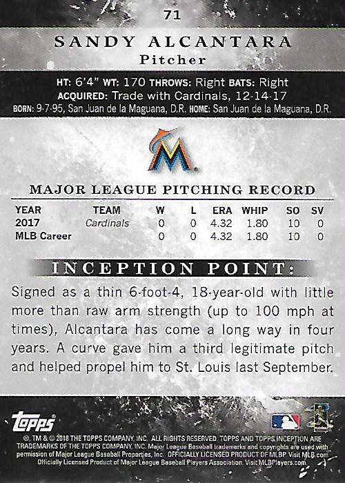 Details about 2018 Topps Inception Baseball Card Pick