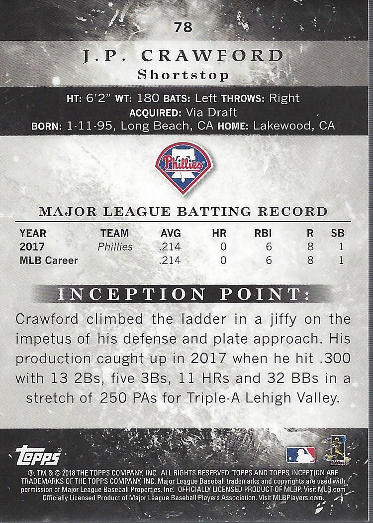 2018-Tarjeta-de-beisbol-Topps-Inception-Pick miniatura 71