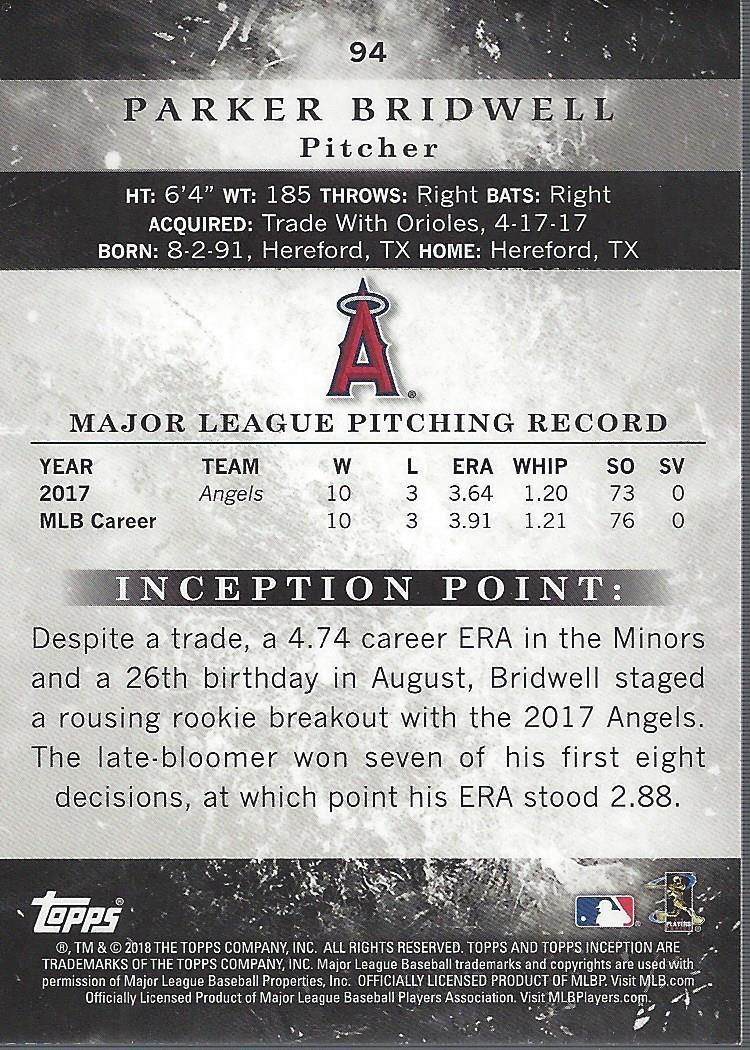 2018-Tarjeta-de-beisbol-Topps-Inception-Pick miniatura 85