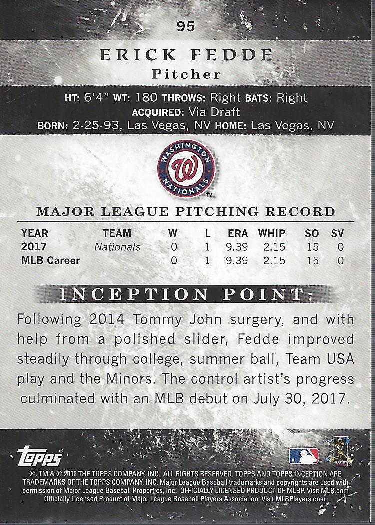 2018-Tarjeta-de-beisbol-Topps-Inception-Pick miniatura 87