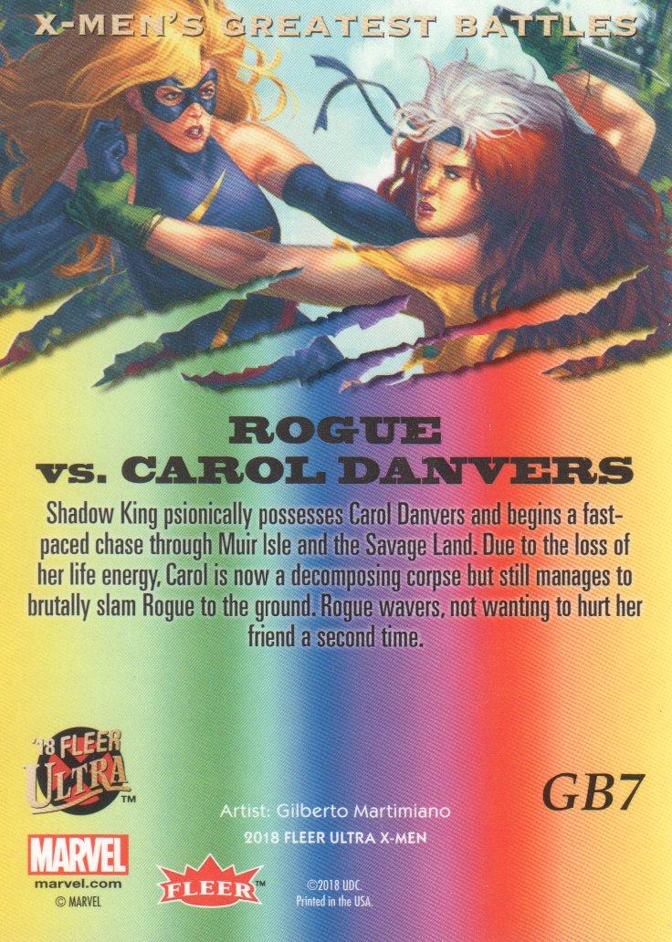 2018-Fleer-Ultra-X-Men-Trading-Cards-Inserts-Greatest-Battles-Pick-From-List miniature 11
