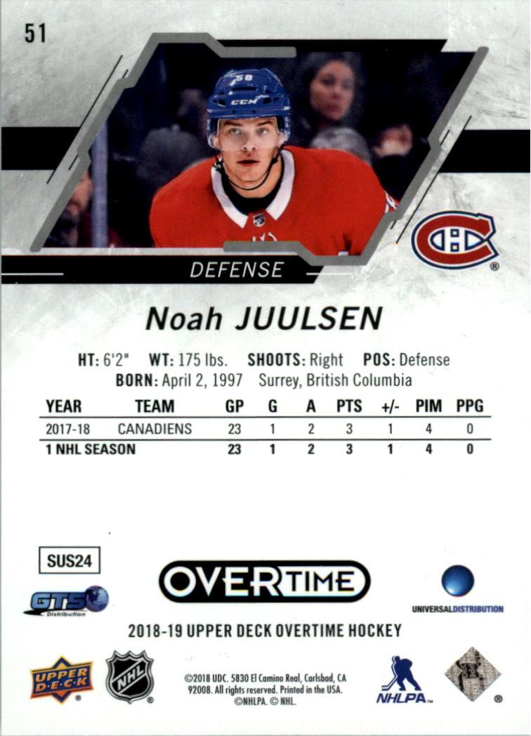 Tarjeta-de-hockey-2018-19-Upper-Deck-Overtime-Pick miniatura 5