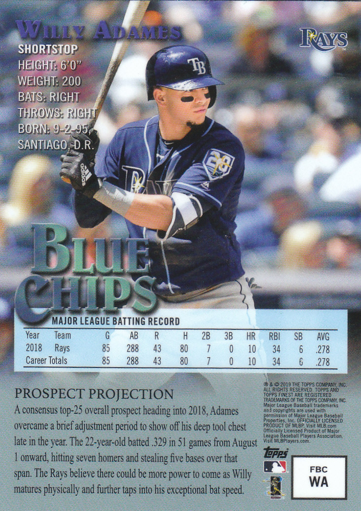 Details About 2019 Finest Topps Baseball Part 2 Parallel Insert And Autograph Cards