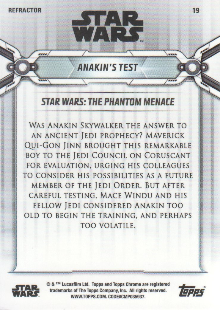 2019-Star-Wars-Chrome-Legacy-Parallels-Trading-Cards-Pick-From-List miniature 51