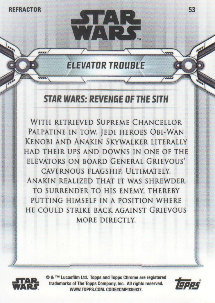 2019-Star-Wars-Chrome-Legacy-Parallels-Trading-Cards-Pick-From-List miniature 89