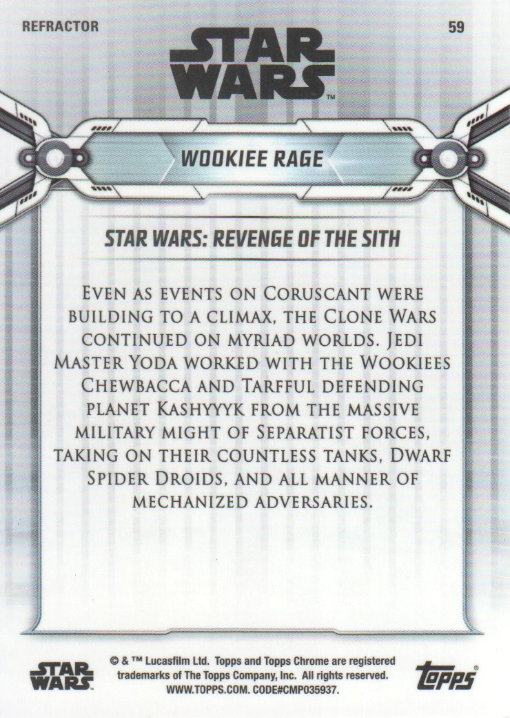 2019-Star-Wars-Chrome-Legacy-Parallels-Trading-Cards-Pick-From-List miniature 97