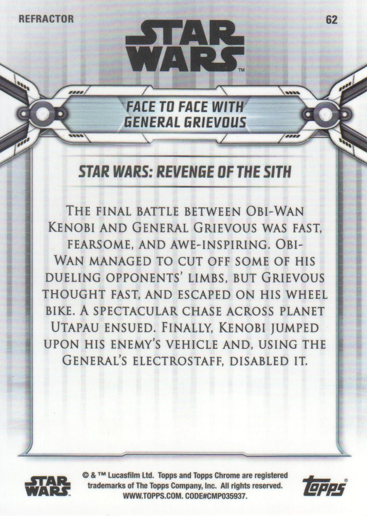 2019-Star-Wars-Chrome-Legacy-Parallels-Trading-Cards-Pick-From-List miniature 99