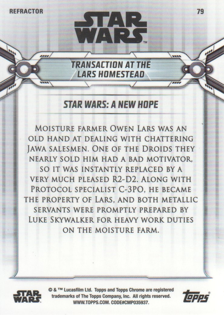 2019-Star-Wars-Chrome-Legacy-Parallels-Trading-Cards-Pick-From-List miniature 109