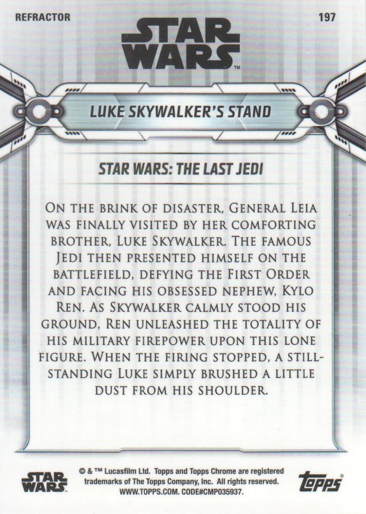 2019-Star-Wars-Chrome-Legacy-Parallels-Trading-Cards-Pick-From-List miniature 179