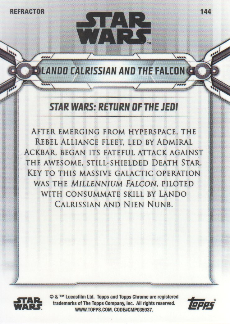 2019-Star-Wars-Chrome-Legacy-Parallels-Trading-Cards-Pick-From-List miniature 139