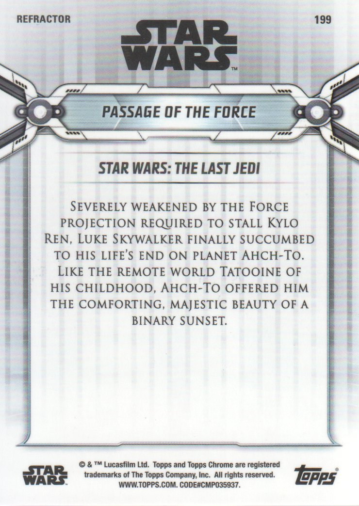2019-Star-Wars-Chrome-Legacy-Parallels-Trading-Cards-Pick-From-List miniature 183
