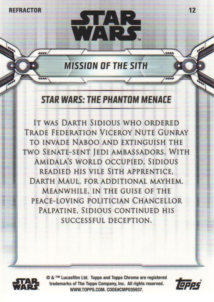 2019-Star-Wars-Chrome-Legacy-Parallels-Trading-Cards-Pick-From-List miniature 47
