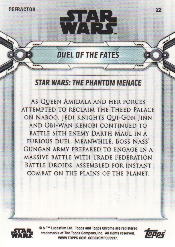 2019-Star-Wars-Chrome-Legacy-Parallels-Trading-Cards-Pick-From-List miniature 55