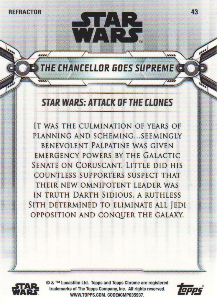 2019-Star-Wars-Chrome-Legacy-Parallels-Trading-Cards-Pick-From-List miniature 83
