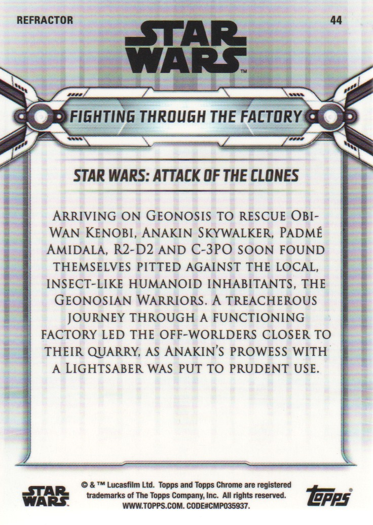 2019-Star-Wars-Chrome-Legacy-Parallels-Trading-Cards-Pick-From-List miniature 85