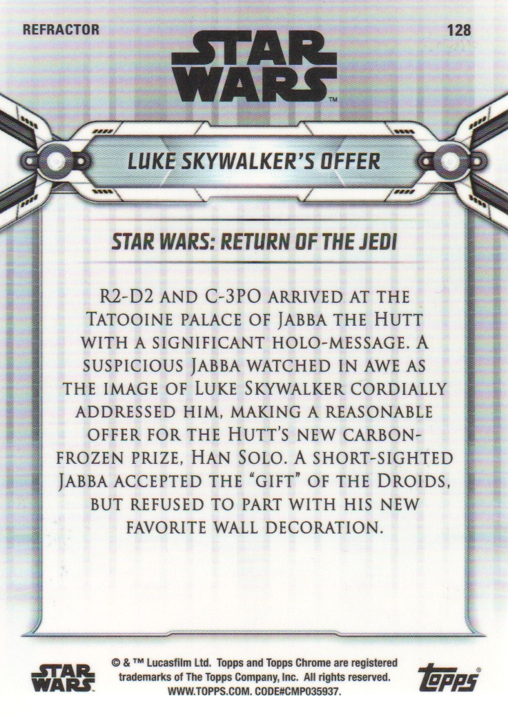 2019-Star-Wars-Chrome-Legacy-Parallels-Trading-Cards-Pick-From-List miniature 131