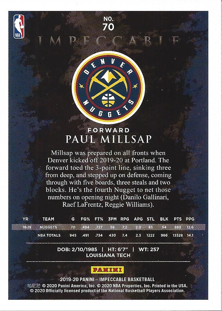 thumbnail 7 - 2019-20 Panini Impeccable Basketball Card Pick
