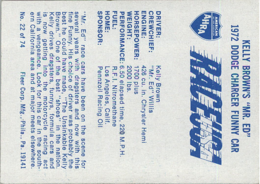 1973-Fleer-AHRA-Race-USA-Racing-Card-Pick miniature 27
