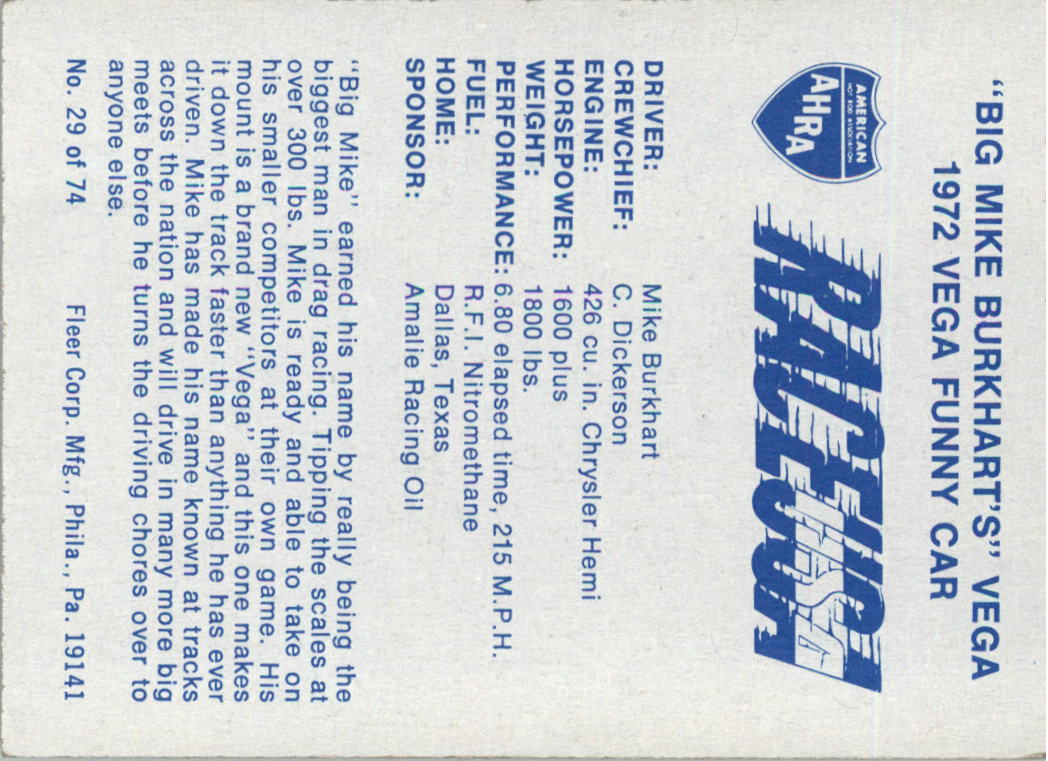 1973-Fleer-AHRA-Race-USA-Racing-Card-Pick miniature 31