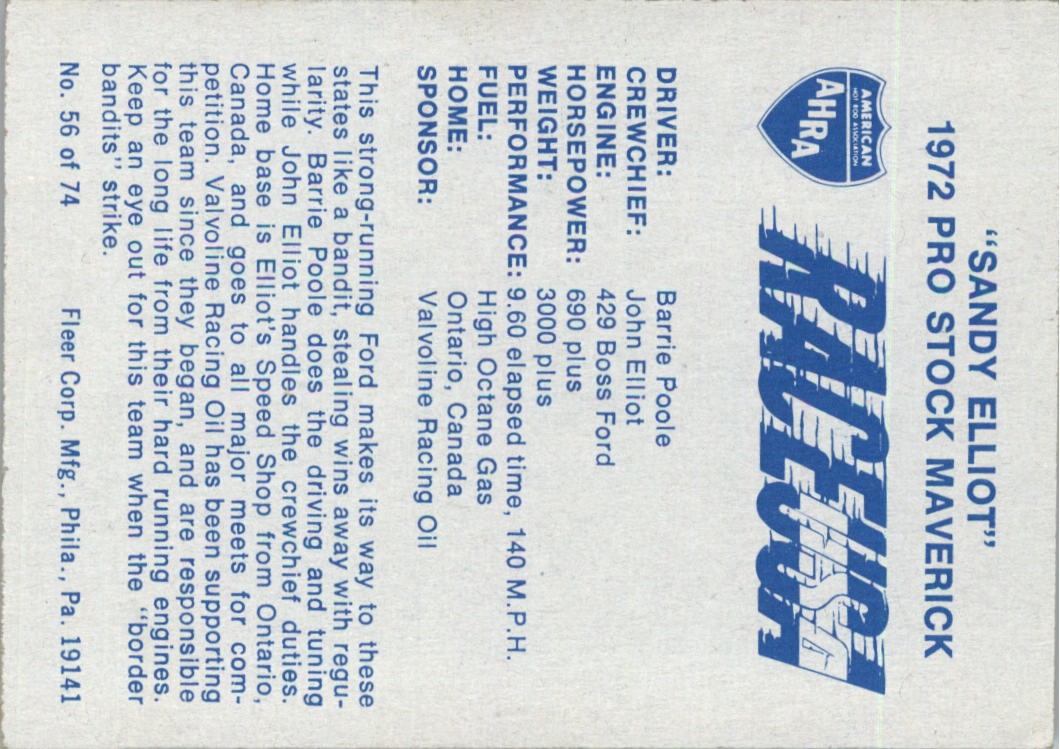 1973-Fleer-AHRA-Race-USA-Racing-Card-Pick miniature 71