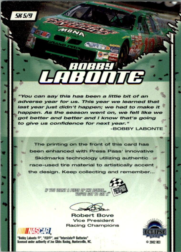 2002-Press-Pass-Eclipse-Racing-Insert-Card-Pick thumbnail 5