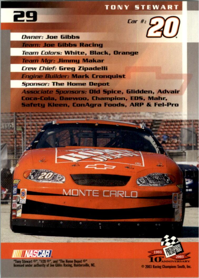 2003-Press-Pass-Trackside-Racing-Card-Pick thumbnail 59
